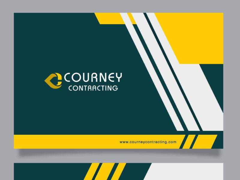 Courney Contracting Visiting Card