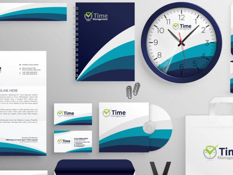 Time Management Stationary Design