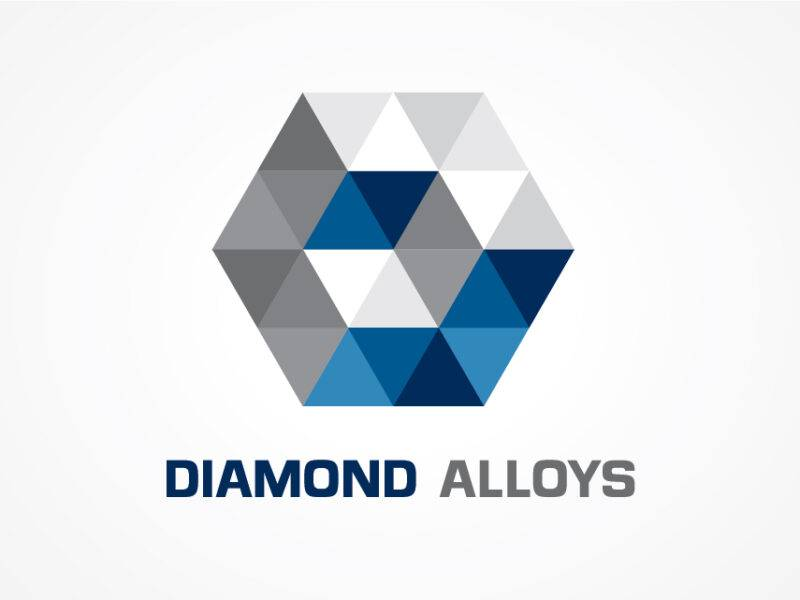 Diamond Alloys Logo Design