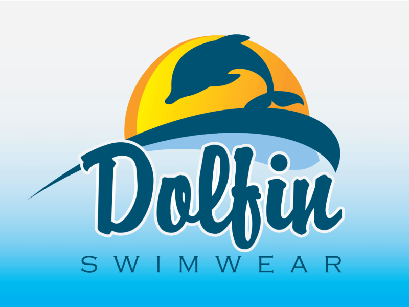 Dolfin Swimwear Logo Design